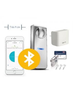 Neuheit: Somfy Smartes Türschloss ABUS Connect für breite Türen mit 7-9 cm